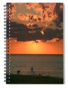 Sunset On Race Point Beach Spiral Notebook