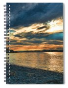 Sunset On Rocky Beach Spiral Notebook