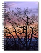 Sunset On Tanners Ridge Spiral Notebook