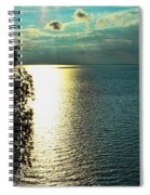 Sunset On The Bay Of Green Bay Wi Spiral Notebook