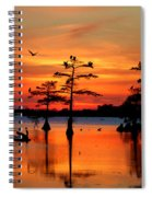 Sunset On The Bayou Spiral Notebook