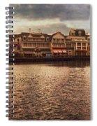 Sunset On The Boardwalk Walt Disney World Spiral Notebook