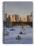 Sunset On The Charles Spiral Notebook