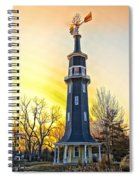 Sunset On The Dwight Windmill Spiral Notebook
