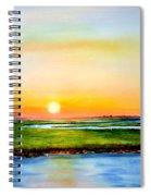 Sunset On The Marsh Spiral Notebook
