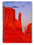 Sunset On The Mittens Spiral Notebook