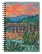 Sunset On The New River Spiral Notebook