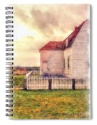 Sunset On The Old Farm House Spiral Notebook
