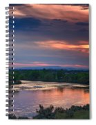 Sunset On The Payette  River Spiral Notebook