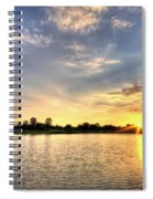 Sunset On The Pond Spiral Notebook