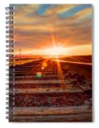 Sunset On The Rails Spiral Notebook