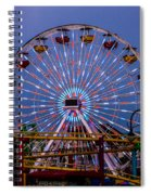 Sunset On The Santa Monica Ferris Wheel Spiral Notebook