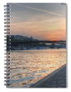 Sunset On The Seine Spiral Notebook