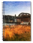 Sunset On The Siuslaw River Spiral Notebook