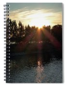 Sunset On The Volga River Spiral Notebook