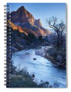 Sunset On The Watchman Spiral Notebook