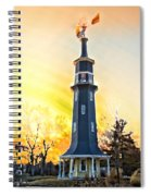 Sunset On The Windmill Spiral Notebook