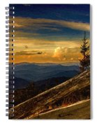 Sunset On Top Of Mount Mitchell Spiral Notebook