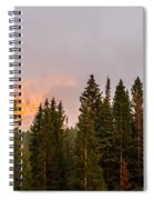 Sunset On West Beckwith Peak Spiral Notebook