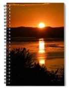 Sunset On Winnesheik Spiral Notebook