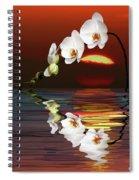 Sunset Orchids Spiral Notebook