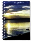 Sunset Over Aurora Spiral Notebook