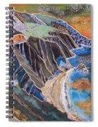 Sunset Over Big Sur Spiral Notebook