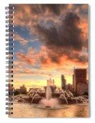 Sunset Over Buckingham Fountain Spiral Notebook