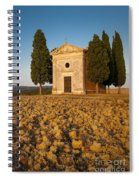 Sunset Over Cappella Di Vitaleta Spiral Notebook