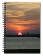 Sunset Over Charleston Harbor Spiral Notebook