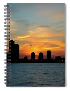 Sunset Over Chicago 0349 Spiral Notebook