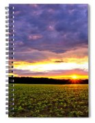 Sunset Over Farmland Spiral Notebook