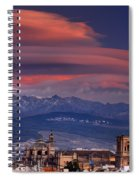 Sunset Over Granada And The Cathedral Spiral Notebook
