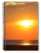 Sunset Over Gray's Beach Yarmouth Cape Cod Spiral Notebook