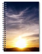 Sunset Over Hills With Clouds Spiral Notebook