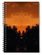 Sunset Over Jackson Michigan Mirror Image Spiral Notebook