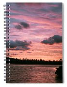 Sunset Over Lake Bailey Spiral Notebook