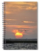 Sunset Over Lake Como Spiral Notebook