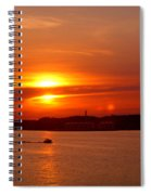 Sunset Over Lake Ozark Spiral Notebook