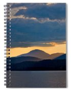 Sunset Over Lake Pend Oreille Spiral Notebook