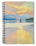 Sunset Over Lake Ruovesi Spiral Notebook
