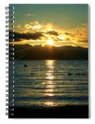 Sunset Over Lake Tahoe Spiral Notebook