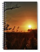 Sunset Over Little Lagoon Bayou Spiral Notebook