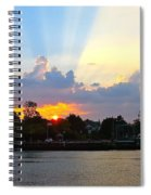Sunset Over Mauricetown  Spiral Notebook