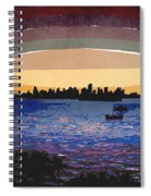 Sunset Over Miami Spiral Notebook