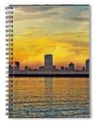 Sunset Over Milwaukee Spiral Notebook
