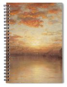 Sunset Over New York Bay Spiral Notebook
