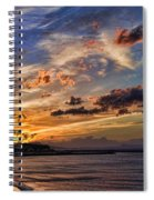Sunset Over Rethymno Crete Spiral Notebook