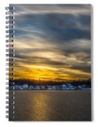 Sunset Over Snow Covered Village Spiral Notebook