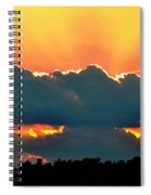 Sunset Over Southern Ohio Spiral Notebook